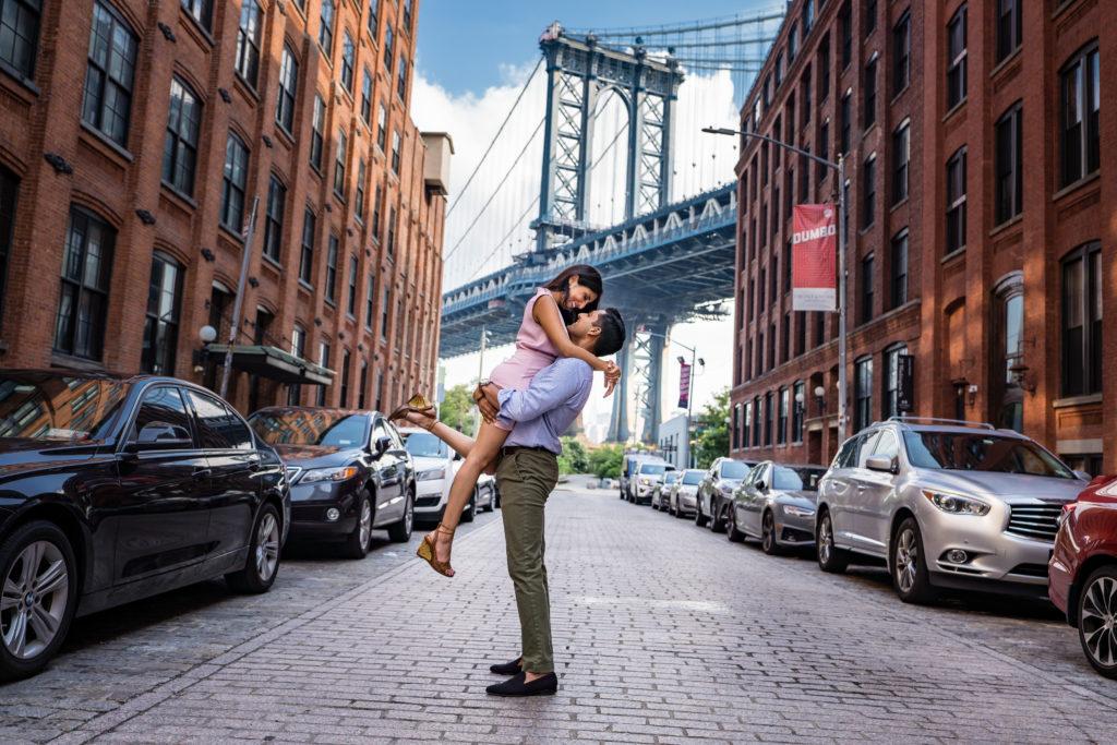 Capturing Love in a Pandemic, Dumbo Brooklyn Bridge.