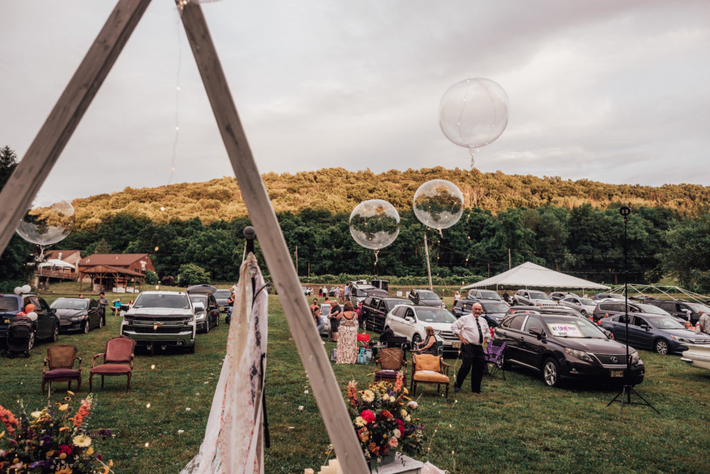 a drive-in movie theater wedding spot.
