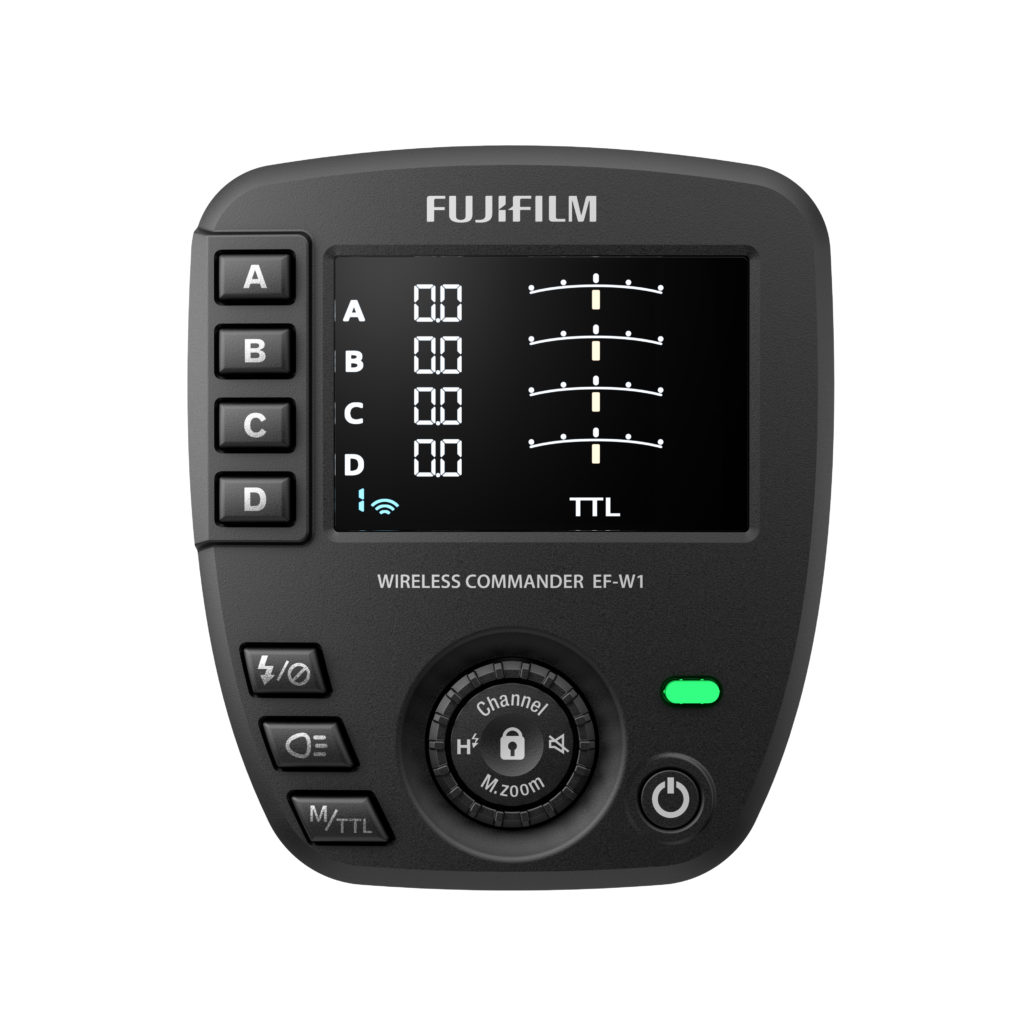 The EF-W1 Wireless Commander was also announced during the Fujifilm Pro Services Program Launch.