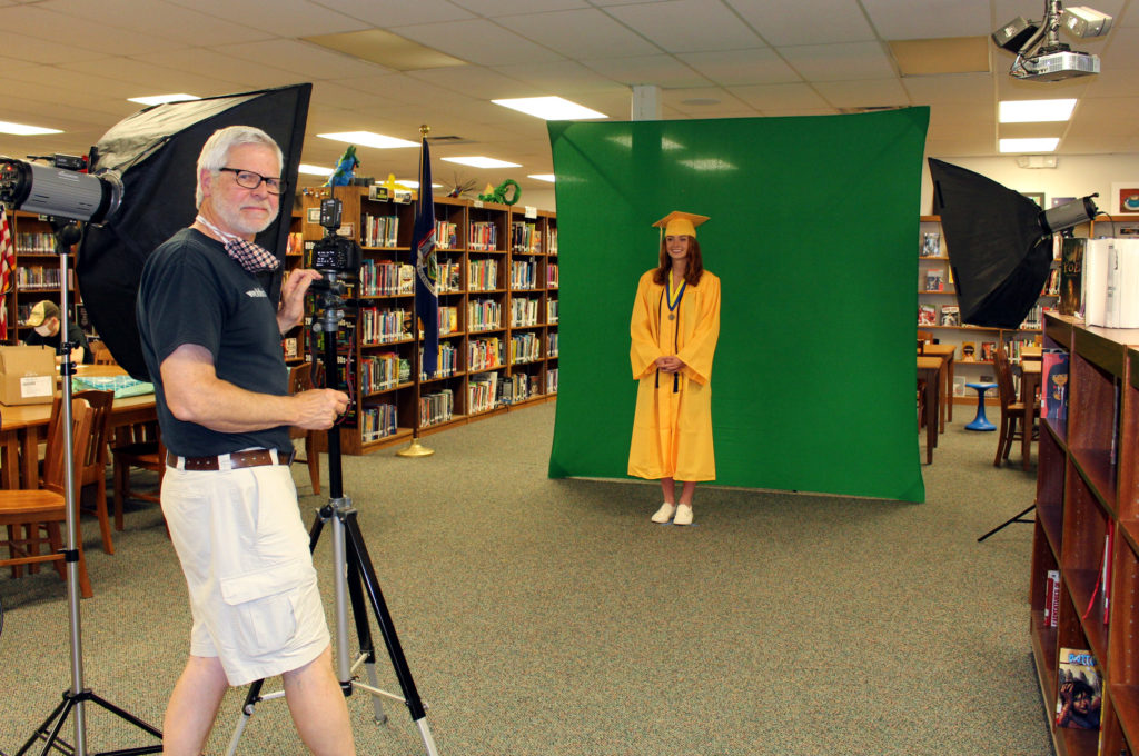 A green screen was used for each individual image.