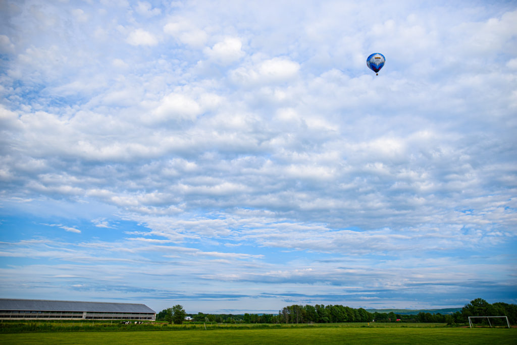 Up, up and away in baloon