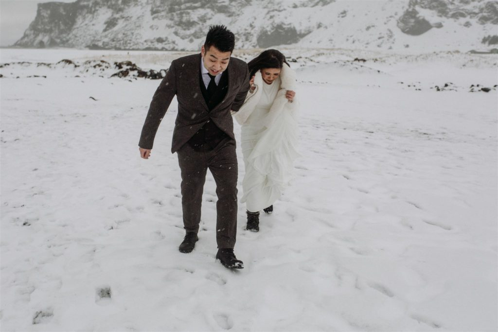 An Icelandic elopement with weather challenges