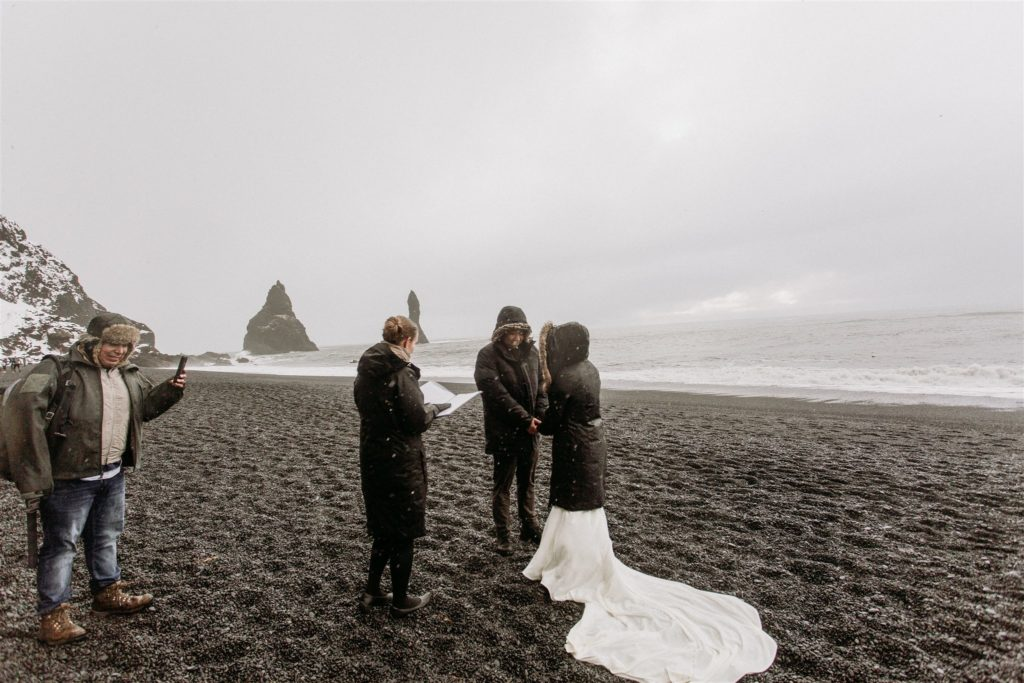 the photographer brought this couple to an inlet as one of the backup plans