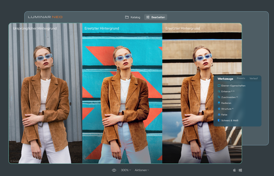 In Luminar Neo, removing the background can also quickly refine outlines.